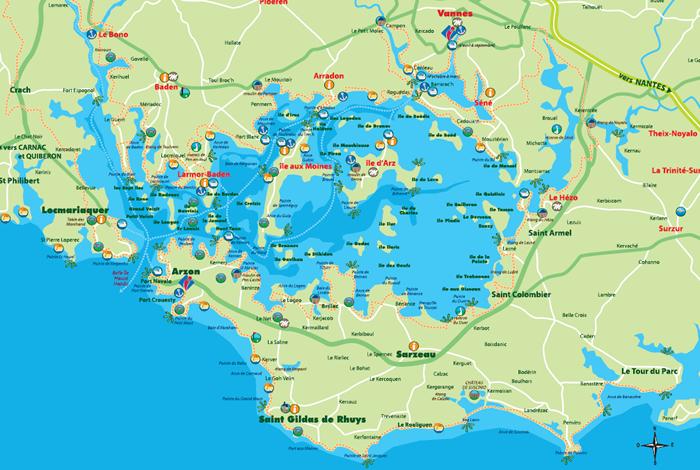 Carte touristique du golfe