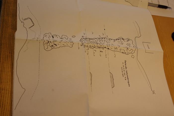 Relevé topographique des vestiges du Pont Cesar
