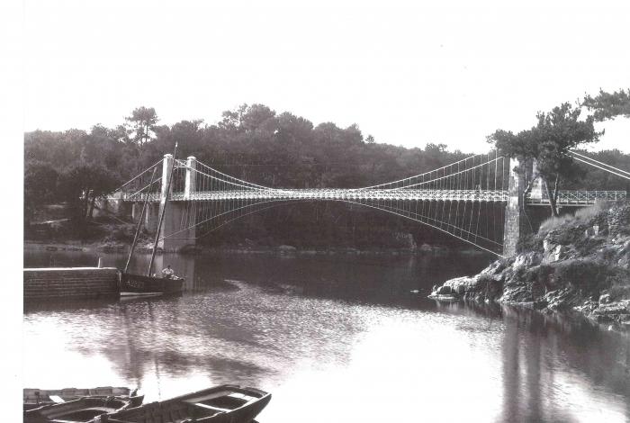 Le Vieux pont après reconstruction 1865 (source archives départementales)