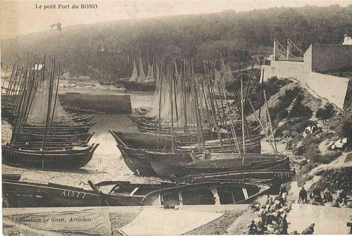 Une forêt de mâts dans le port du Bono vers 1911