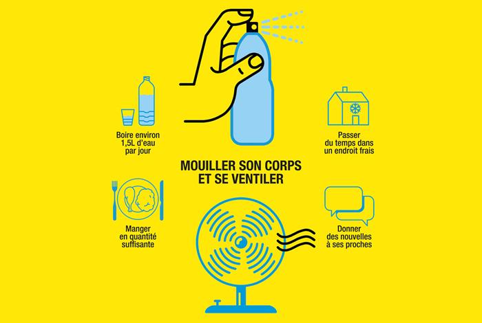Canicule – Fortes chaleurs, adoptez les bons réflexes !