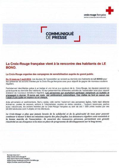 Campagne de sensibilisation La Croix Rouge