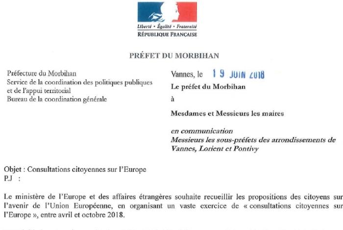 Consultations citoyennes sur l'Europe