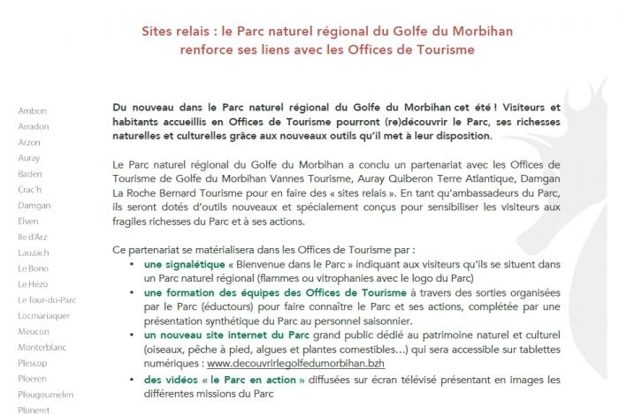 Le Parc Naturel Régional du Golfe du Morbihan