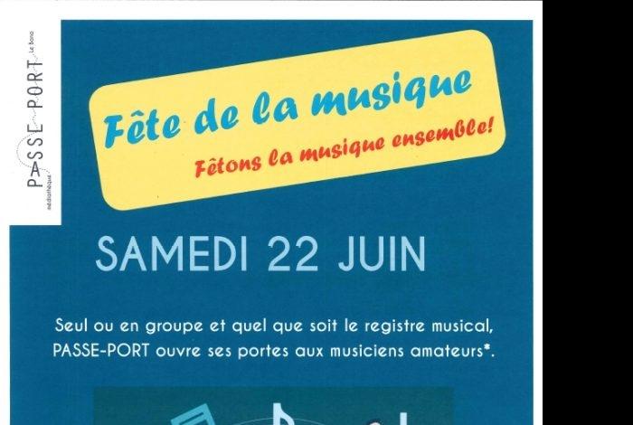 Fête de la musique PASSE-PORT médiathèque
