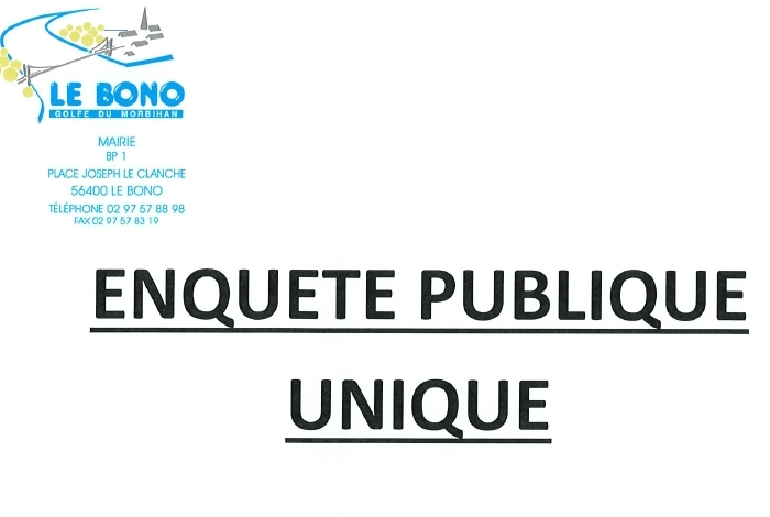 ENQUÊTE PUBLIQUE UNIQUE CONCLUSIONS