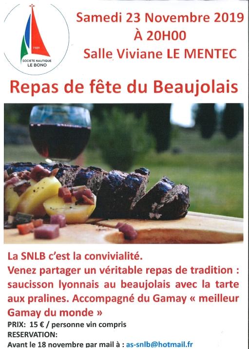 Repas de fête du Beaujolais