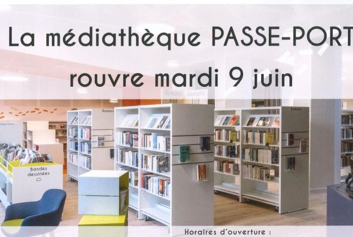 Médiathèque Passe-Port – réouverture mardi 9 juin