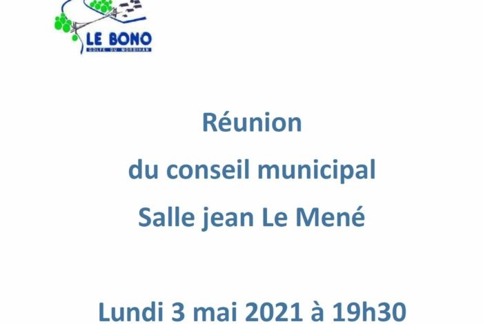 Conseil municipal lundi 3 mai 2021 à 20h30