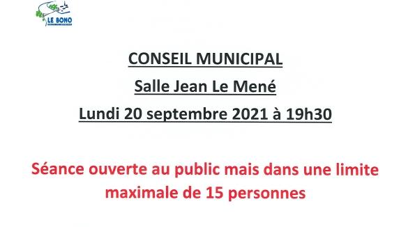Conseil municipal 20/09/21